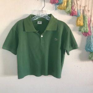 🐊VTG LACOSTE crop polo shirt